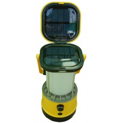 Solar Powered Camping Yellow Lantern with Phone Charger: 1 unit/Package