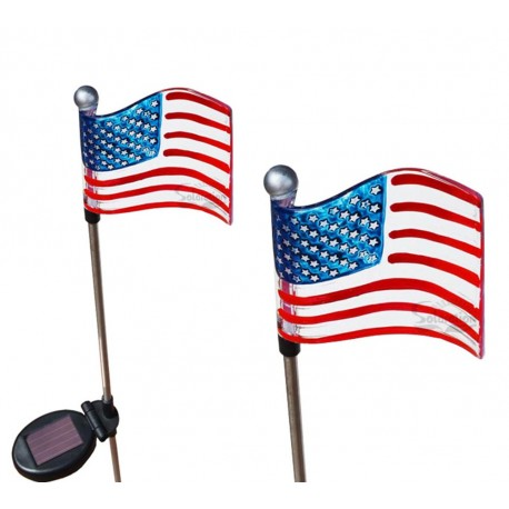 Flag Solar Garden Stake Lights: 2 units/Package