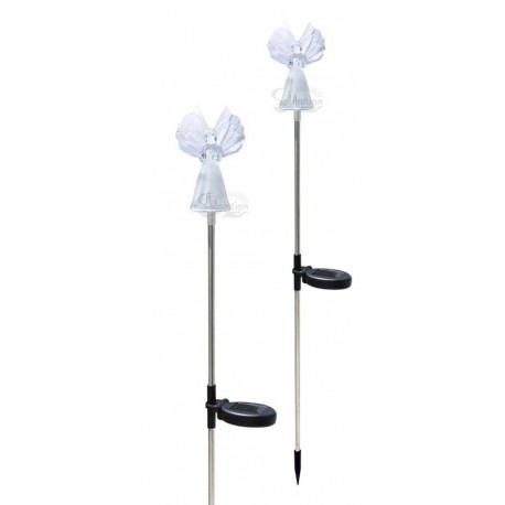 A pack of Two Fiberoptic Wing Angel Solar Garden lights: 36 units/Case