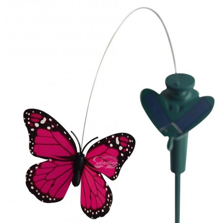 Solar or Battery Powered Fluttering Butterfly Yard Stake: 1 unit/Package