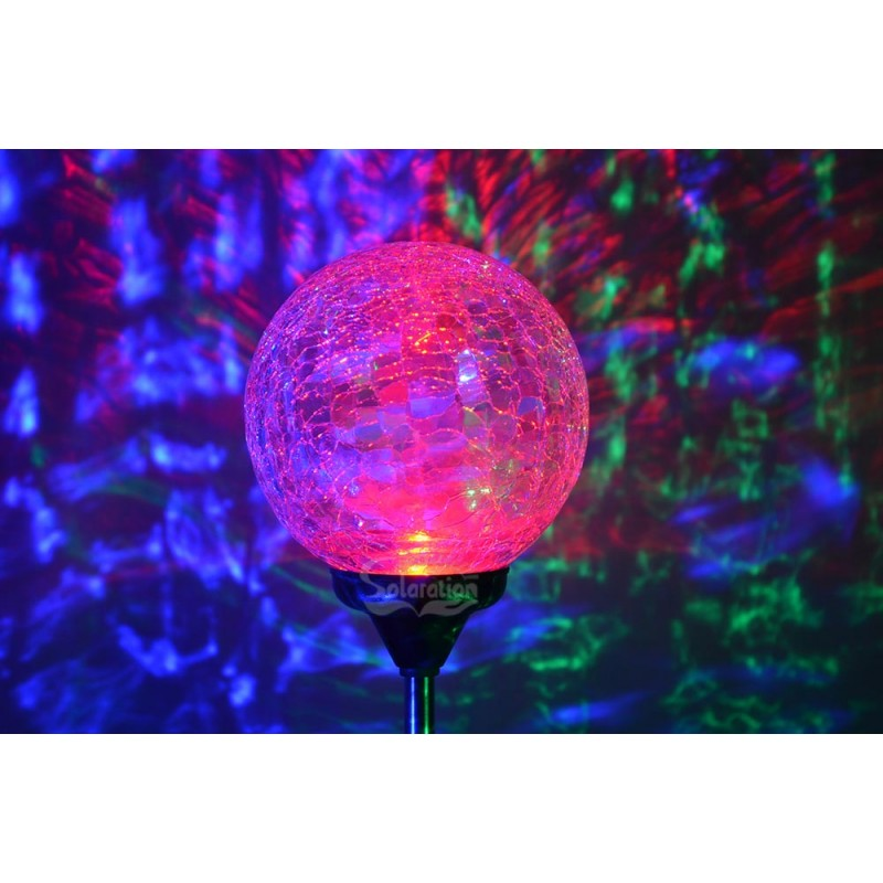 Christmas Red Green Blue Led 3 5 Quot Dia Crackle Glass Ball