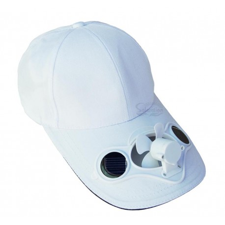 Solar Fan White Hat: 25 units/Case