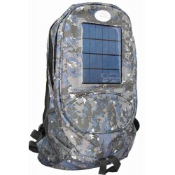 Camouflage Backpack and Cell Phone Solar Charger: 1 unit/Package