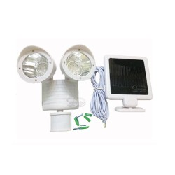 22 LED Motion Sensory White Solar Security Light: 12 units/Case