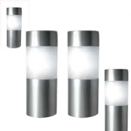 "A pack of Four 5.5"" Tall Stainless Steel Solar Bollard Lights: 48 units/Case"