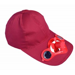 Solar Fan Claret-red Hat: 25 units/Case