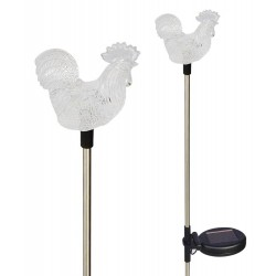 A pack of Two Farm RoosterSolar Garden Lights: 24 units/Case