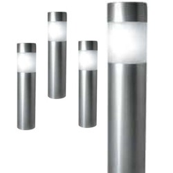 "A pack of Four 10.5"" Tall Stainless Steel Solar Bollard Lights: 48 units/Case"
