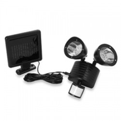 22 LED Motion Sensory Black Solar Security Light: 12 units/Case