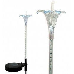 A Pack of Two Lily Flowers of Solar Garden Motion 18 White LED Lights, 2 Pack: 24 units/Case